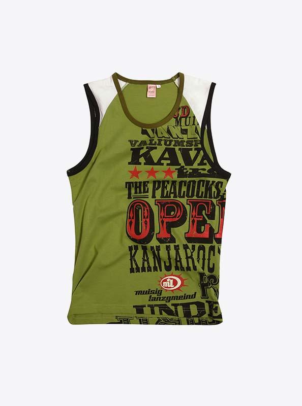Aermellos T-Shirt Damen Drucken