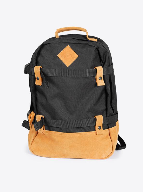 Backpack Rucksack Mit Leder Und Werbedruck