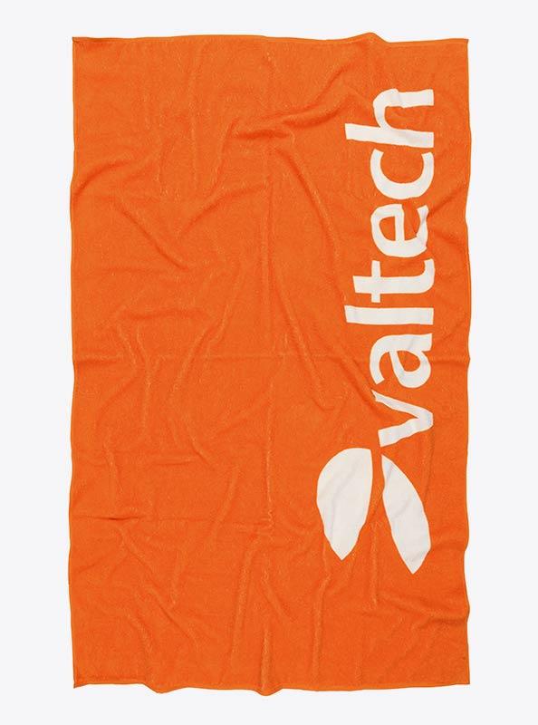 Badetuch Mit Einwebung Jacquard Werbung Valtech