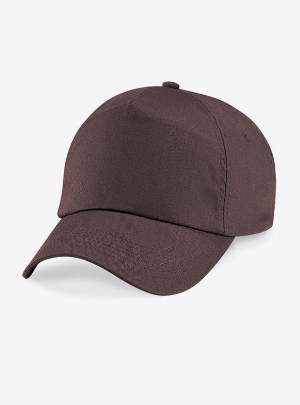 Baseball Cap Bedrucken Oder Besticken Mit Logo Beechfield B10 Chocolate