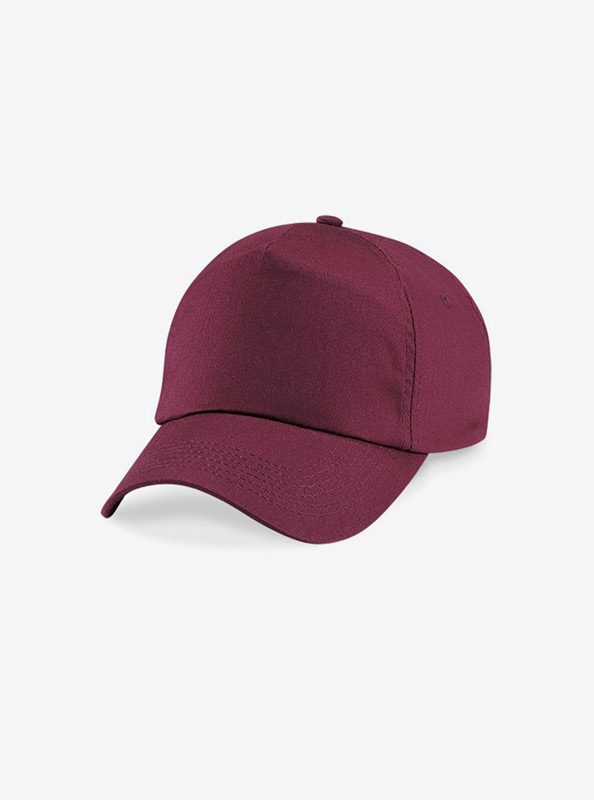 Baseball Cap Bedrucken Oder Besticken Mit Logo Beechfield B10 Farbe Burgundy