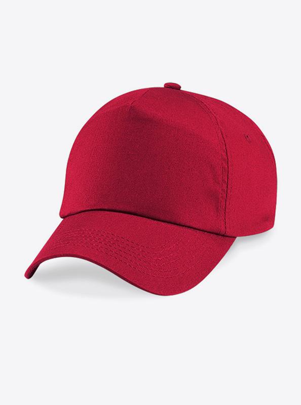 Baseball Cap Bedrucken Oder Besticken Mit Logo Beechfield B10 Farbe Classic Red