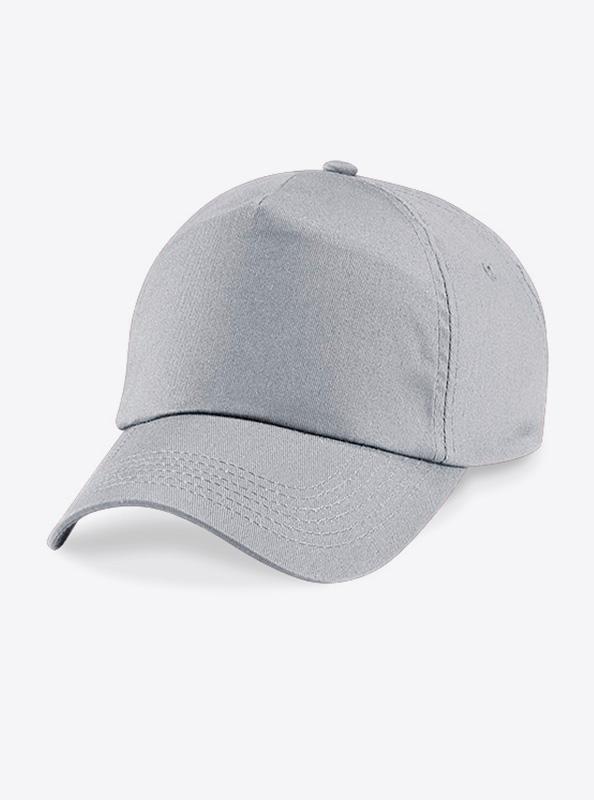 Baseball Cap Bedrucken Oder Besticken Mit Logo Beechfield B10 Farbe Light Grey