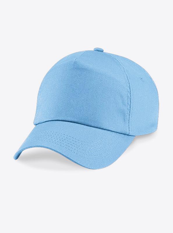 Baseball Cap Bedrucken Oder Besticken Mit Logo Beechfield B10 Farbe Sky Blue