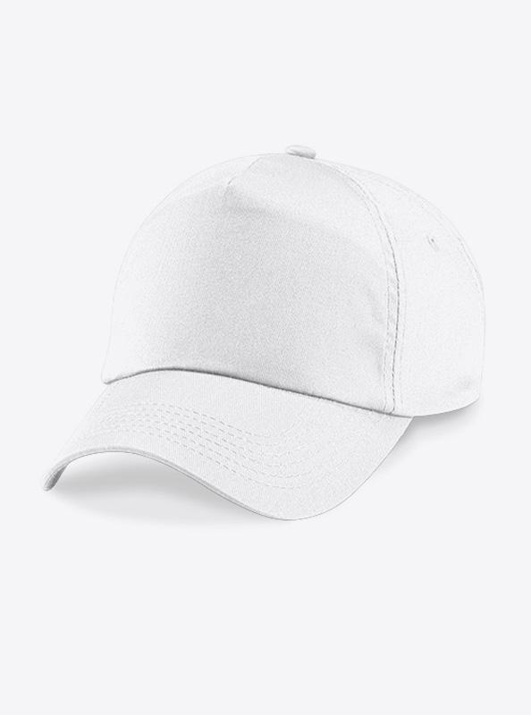 Baseball Cap Bedrucken Oder Besticken Mit Logo Beechfield B10 Farbe White