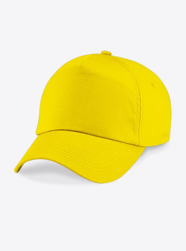 Baseball Cap Bedrucken Oder Besticken Mit Logo Beechfield B10 Farbe Yellow