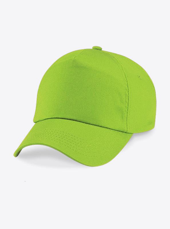 Baseball Cap Bedrucken Oder Besticken Mit Logo Beechfield B10 Lime Green