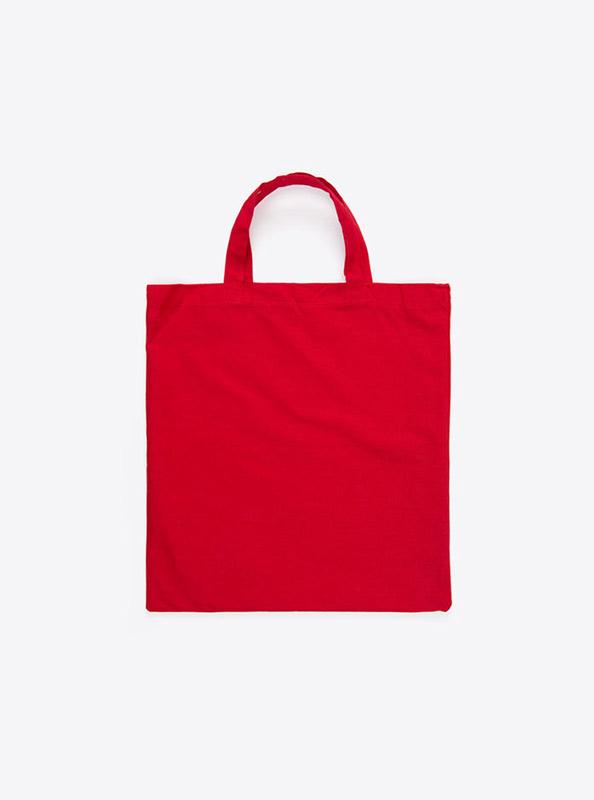Baumwoll Tasche Unbedruckt Rot