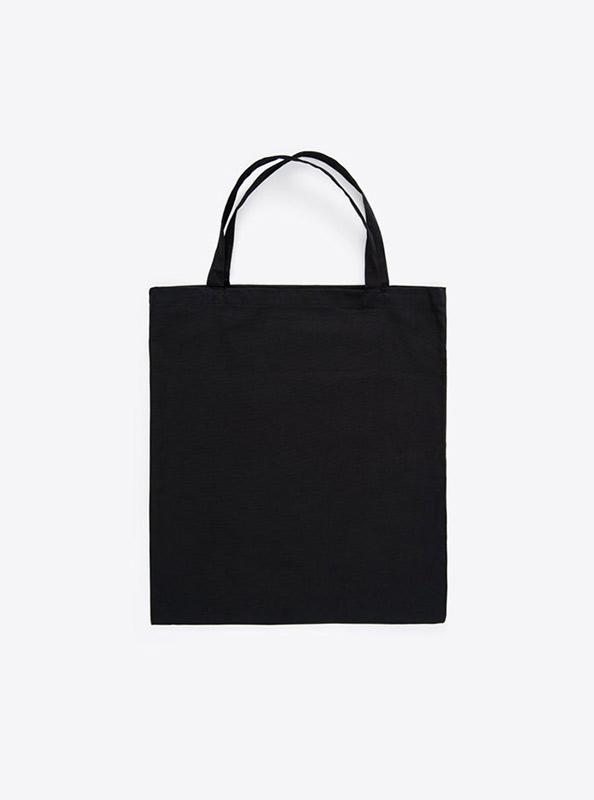 Baumwoll Tasche Unbedruckt Schwarz