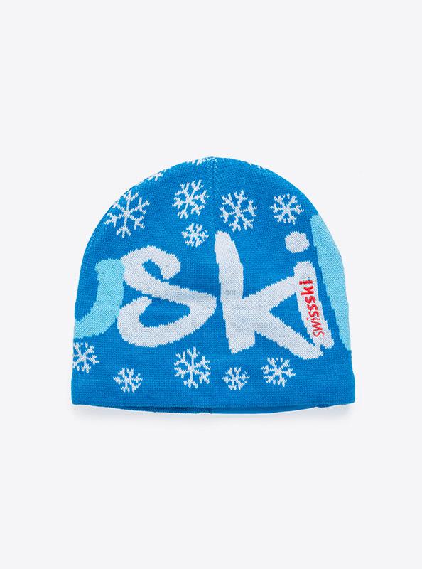 Beanie Mit Logo Einwebung Swisski Blau