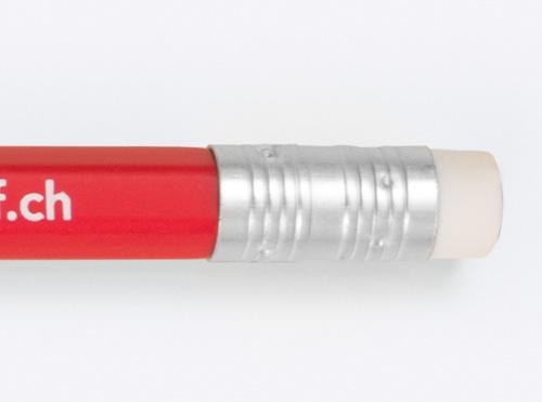 Bleistift Mit Logo Bedruckt Radiergummi