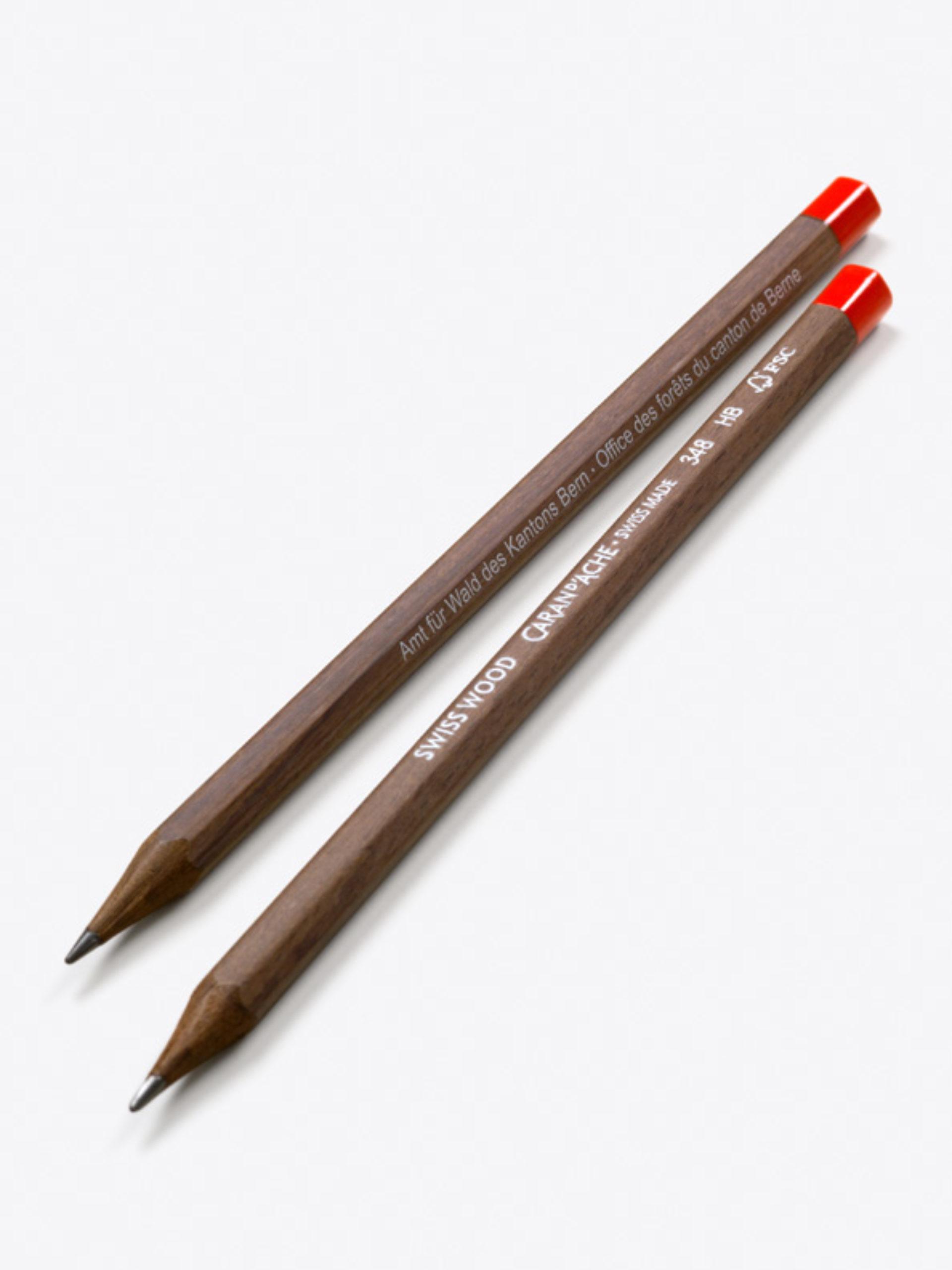 Caran Dache Bleistift Mit Logo Bedruckt Swiss Wood