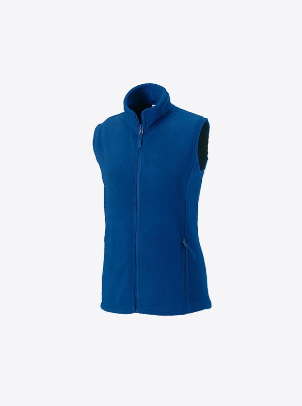 Damen Fleece Gilet Mit Logo Besticken In Der Schweiz Russell 870f Farbe Royal Blue