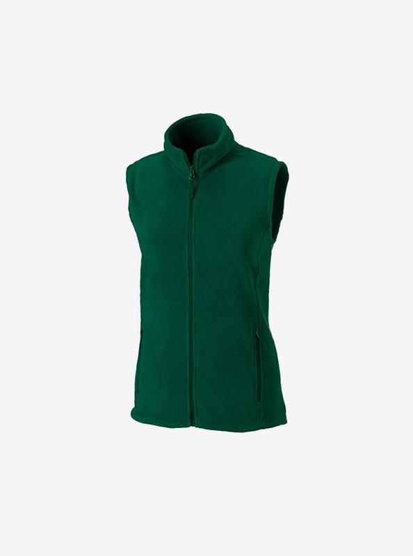 Damen Fleece Weste Mit Logo Besticken Russell 870f Farbe Bottle Green