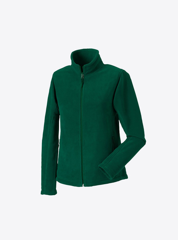 Damen Fleecejacke Mit Logo Besticken Russell 870F Farbe Bottle Green