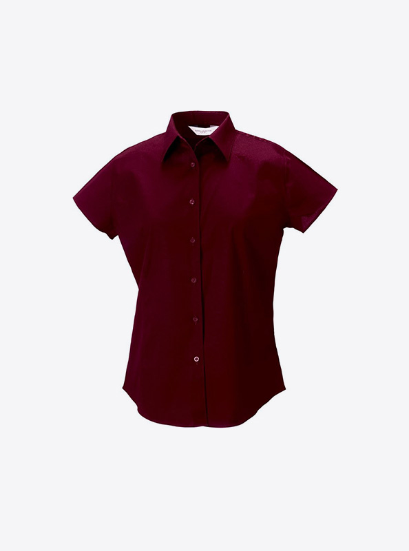 Damen Hemd Kurzarm Mit Logo Bedrucken Besticken Russell 947f Farbe Port