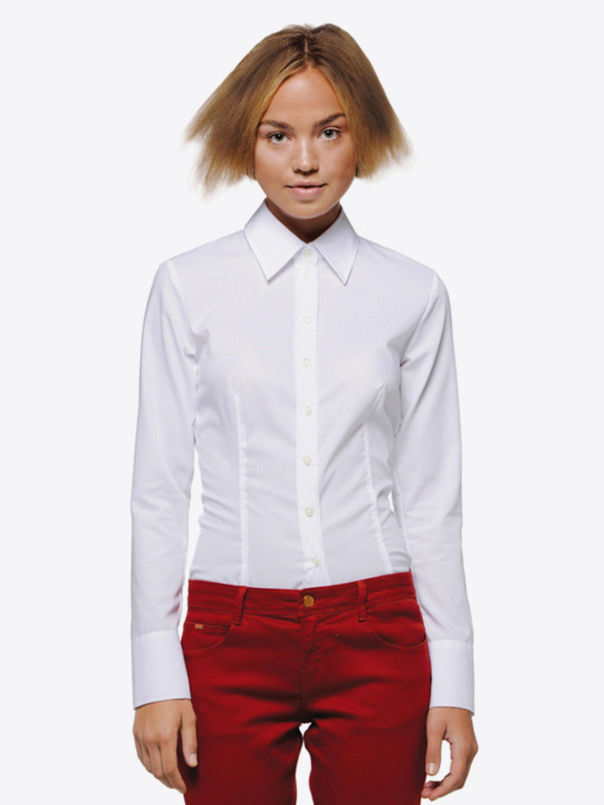 Damen Hemd Langarm Mit Logo Bedrucken Besticken Hakro 102 Foto