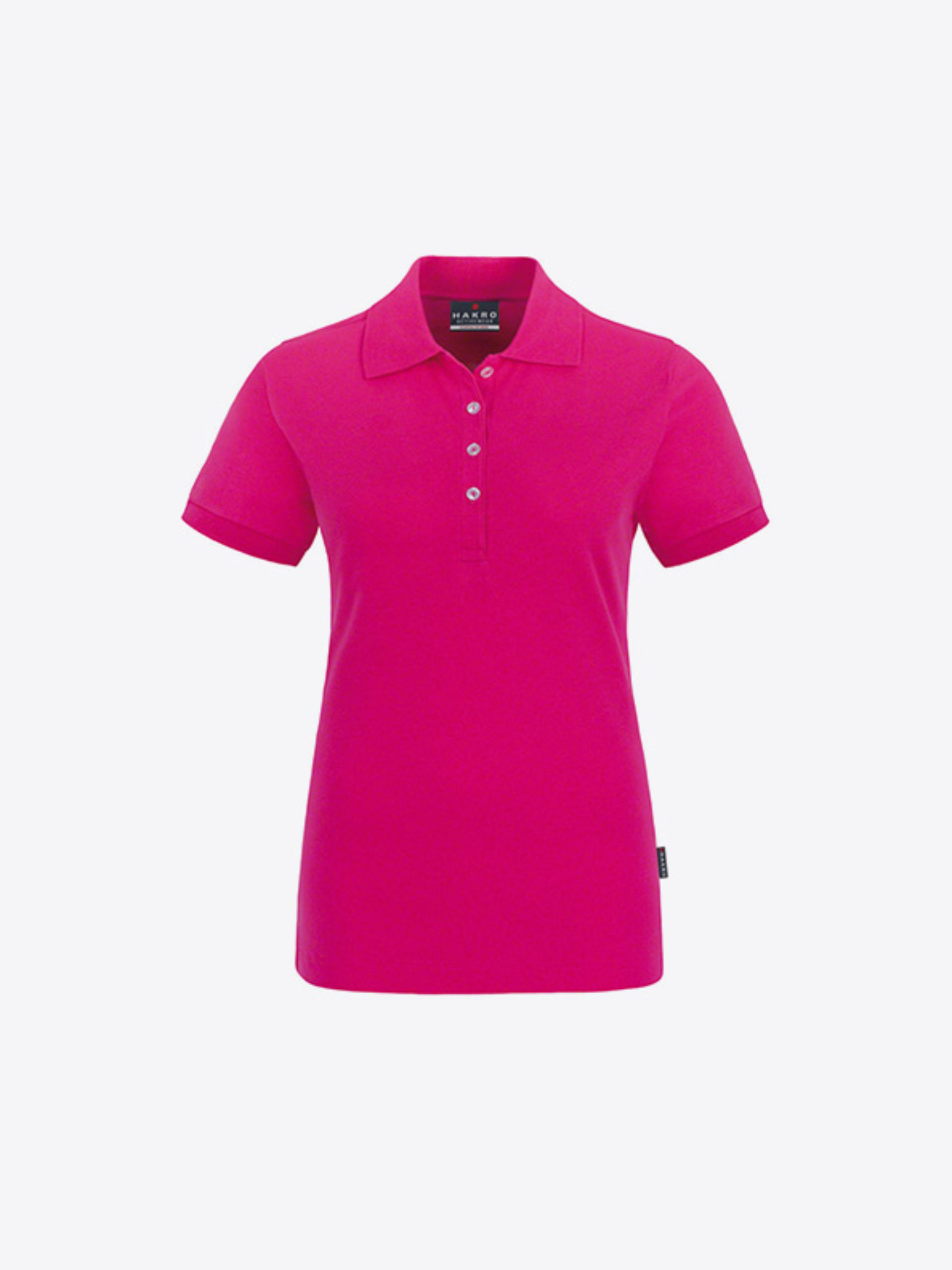 Damen Polo Shirt Bedrucken Lassen Hakro 222 Magenta