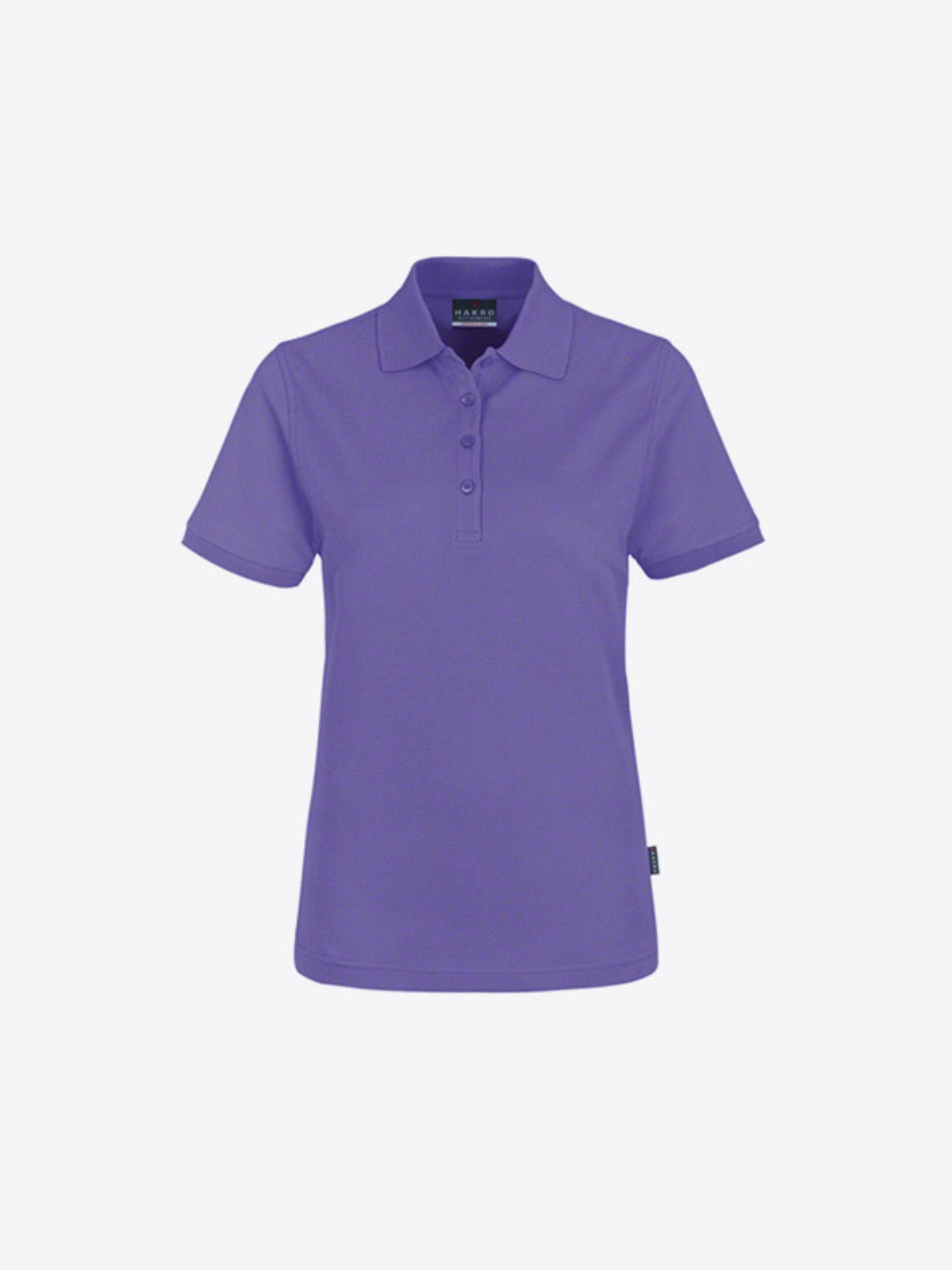Damen Polo Shirt Besticken Hakro 110 Lavendel