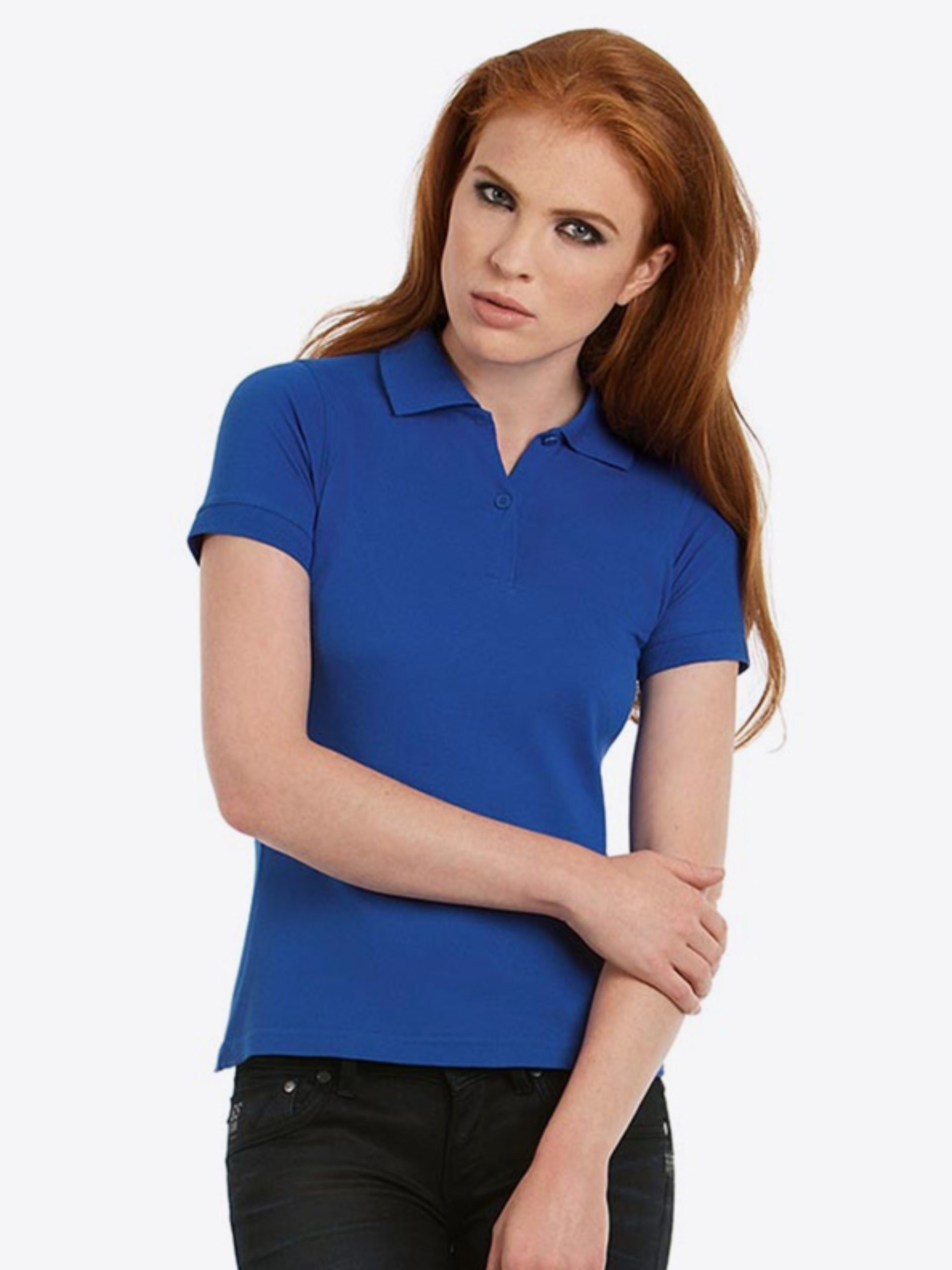 Damen Polo Shirt Bundc Safran Pw455
