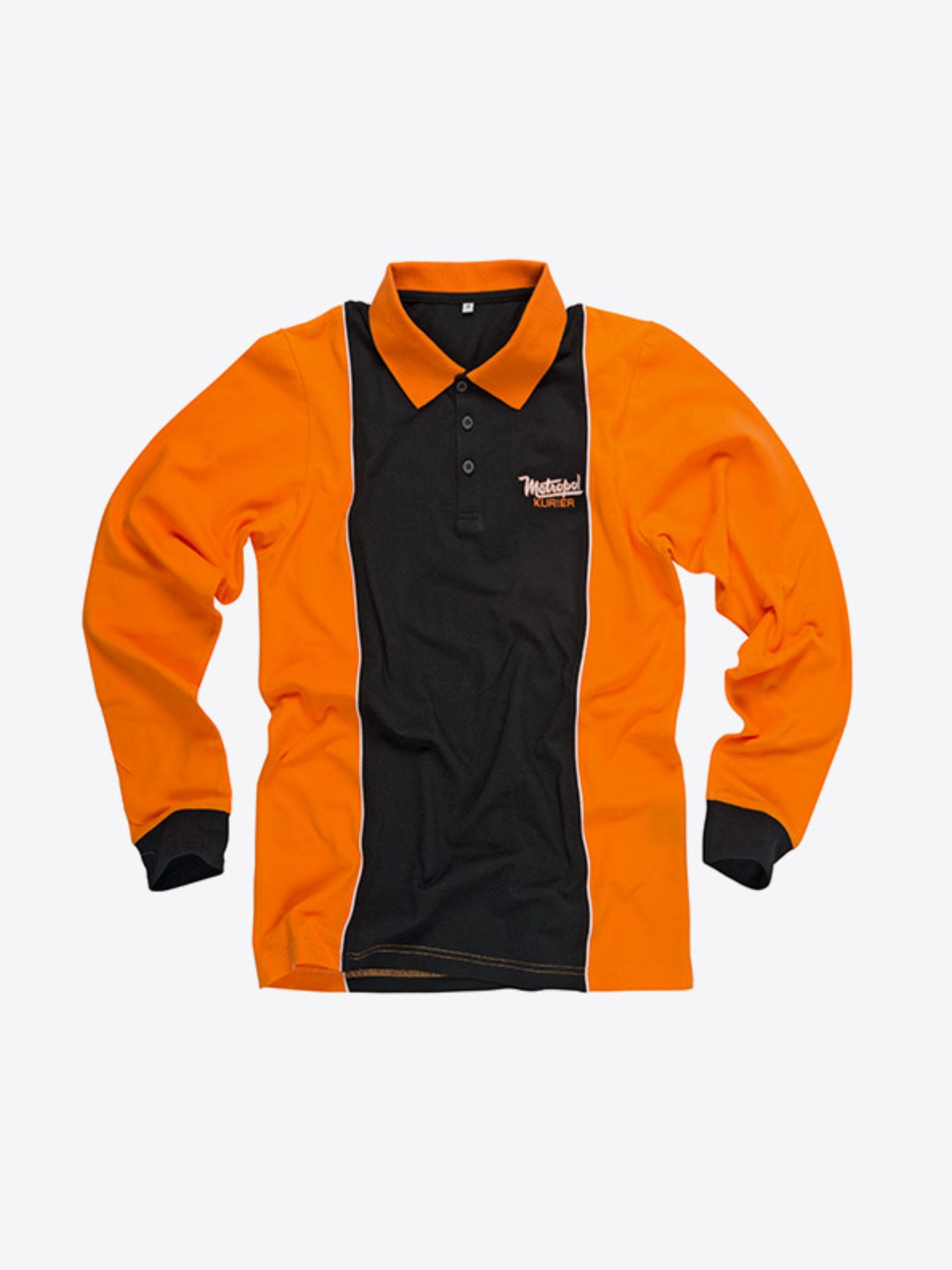 Damen Polo Shirt Langarm Besticken