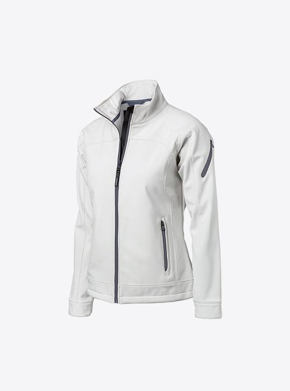 Damen Premium Softshelljacke Mit Logo Bedrucken Oder Besticken Nimbus Duxbury White
