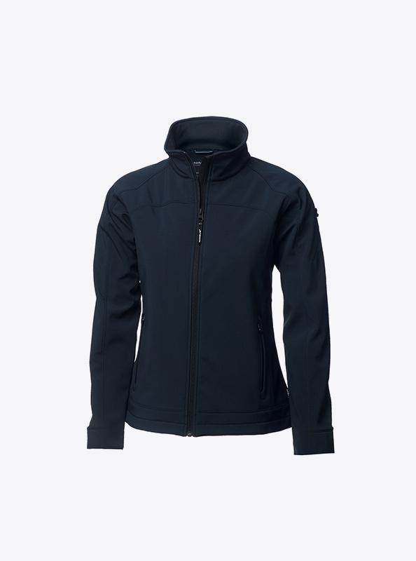 Damen Premium Softshelljacke Mit Logo Drucken Oder Besticken Nimbus Duxbury Navy Vorne
