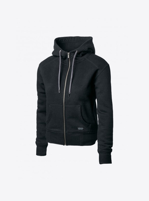 Damen Sweatshirt Zip Hoodie Bedrucken Lassen Nimbus Stanford Black