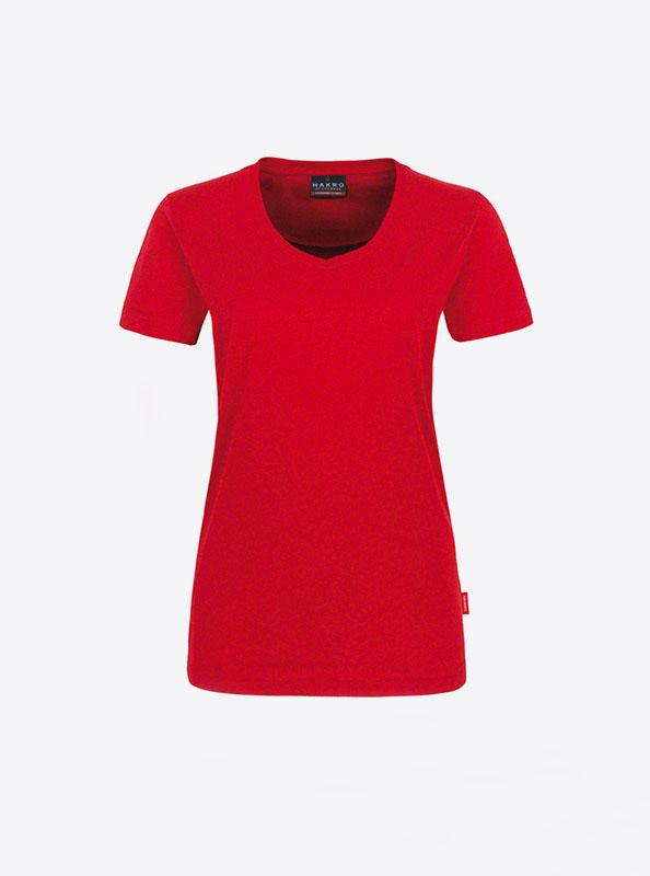 Damen T Shirt In Schweiz Bedrucken Hakro 181 Rot