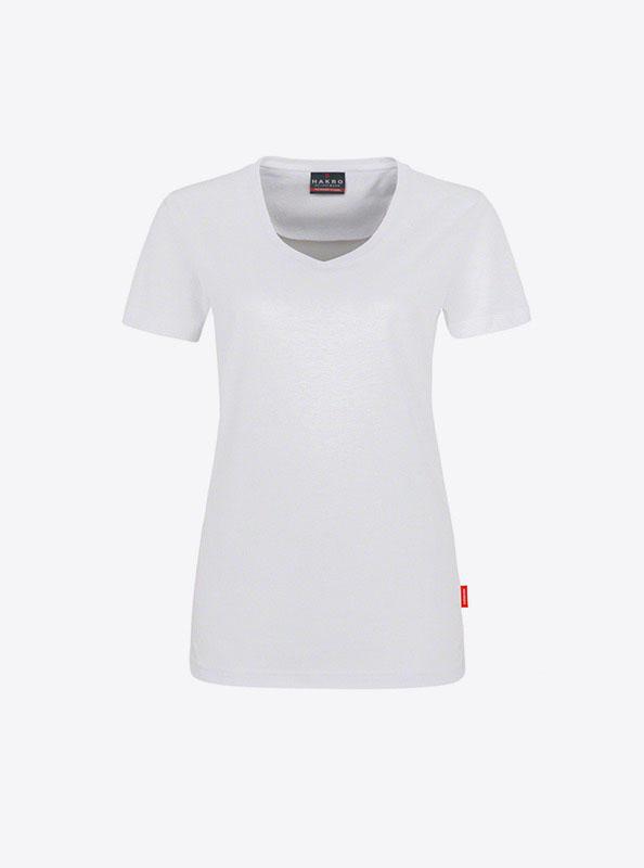 Damen T Shirt In Zuerich Bedrucken Lassen Hakro 181 Weiss