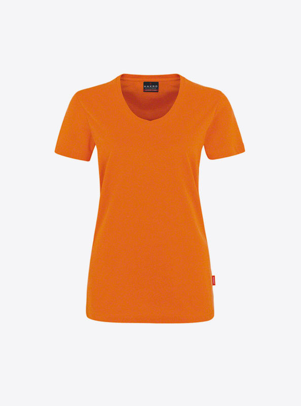 Damen T Shirt Individuell Bedrucken Hakro 181 Orange