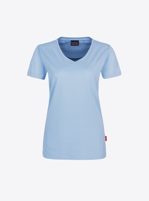 Damen T Shirt Mit Logo Bedrucken Hakro 181 Ice Blue
