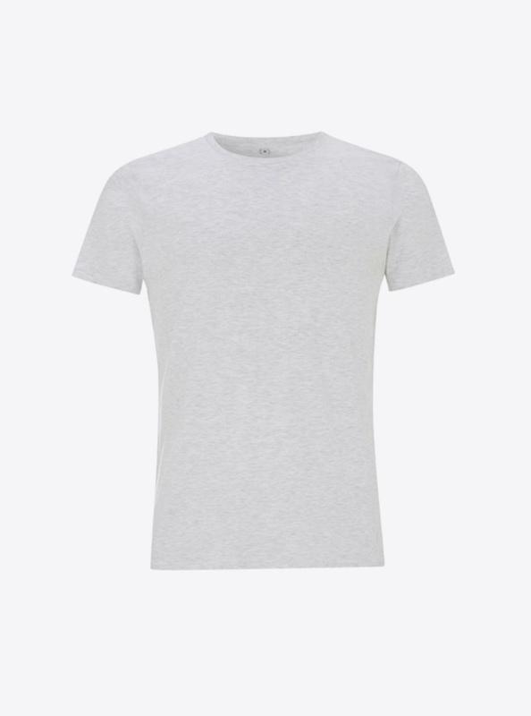 Damen T Shirt Mit Siebdruck Drucken Individuell Continental N18 Melange White
