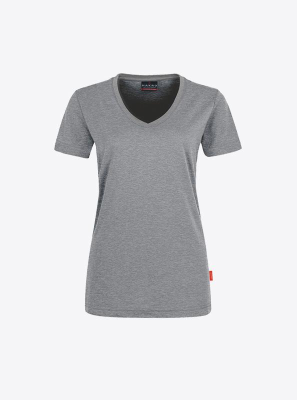 Damen T Shirt Mit Siebdruck Drucken Lassen Hakro 181 Grau Meliert