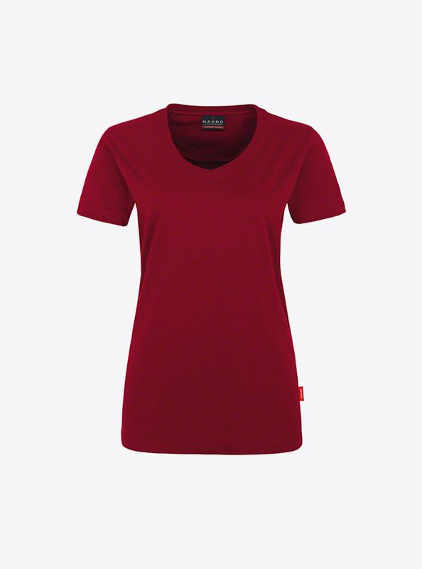 Damen T Shirt Selbst Gestalten Hakro 181 Weinrot