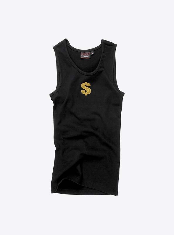 Damen T Shirts Aermellos Mit Glitzer Druck