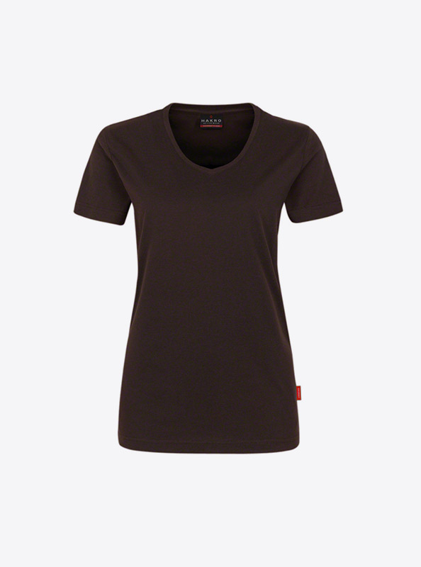 Damen T Shirts Fuer Firma Drucken Hakro 181 Chocolate
