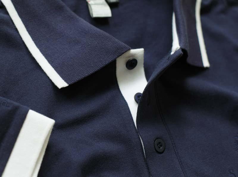 Farbiger Kragen Polo Shirt