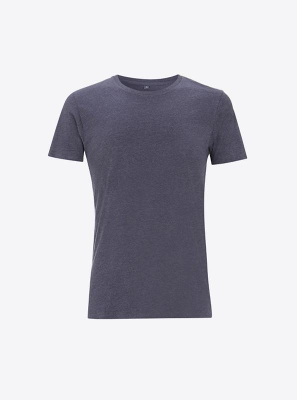 Firmenlogo Auf Damen T Shirt Drucken Lassen Continental N18 Melange Indigo