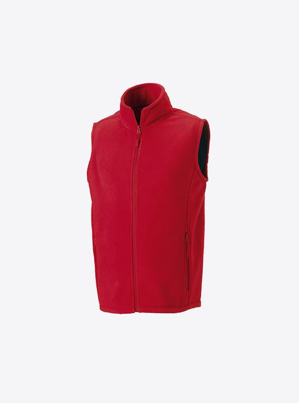 Fleece Gilet Herren Mit Logo Besticken Russell 870m Farbe Red