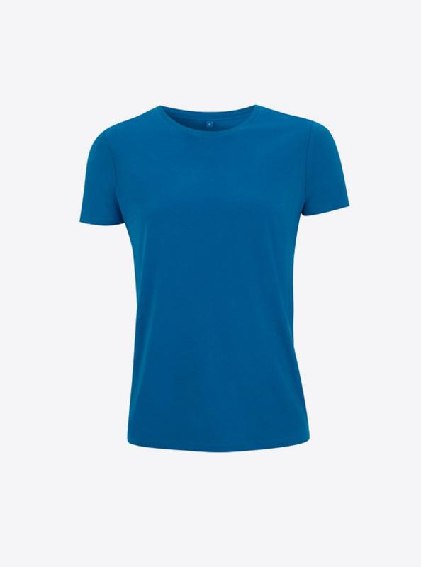 Frauen T Shirt Besticken Lassen Bedrucken Continental N18 Island Blue