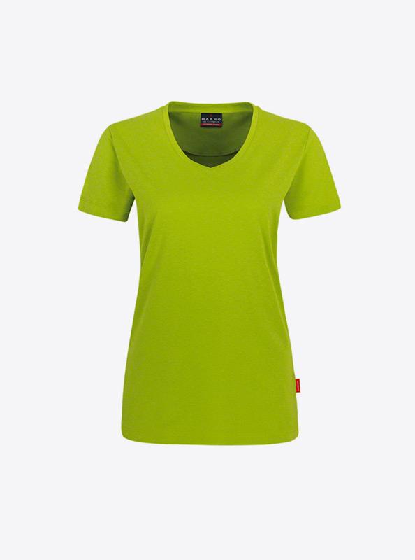Frauen T Shirt Mit Aufdruck Bedrucken Hakro 181 Kiwi