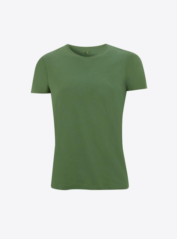 Frauen T Shirt Mit Logo Bedrucken Lassen Schweiz Continental N18 Elm Green