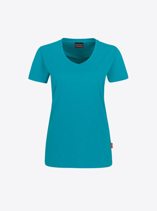 Frauen T Shirts Mit Logo Drucken Lassen Hakro 181 Smaragd