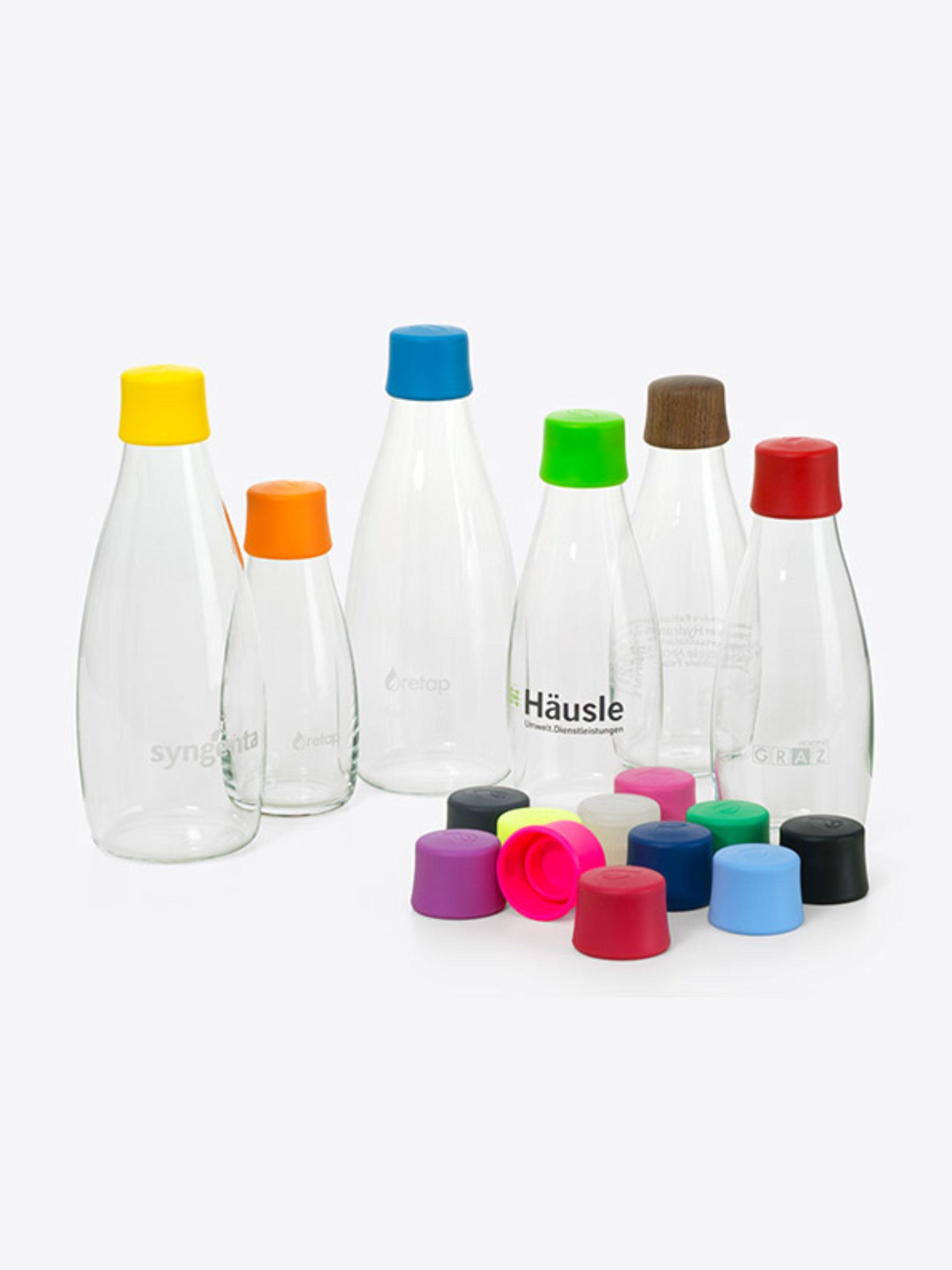 Glas Trinkflasche Retap Mit Logo Bedrucken