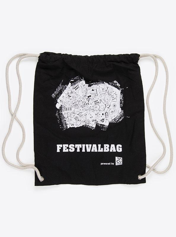 Gym Bag Baumwolle Bedruckt 20min Festival