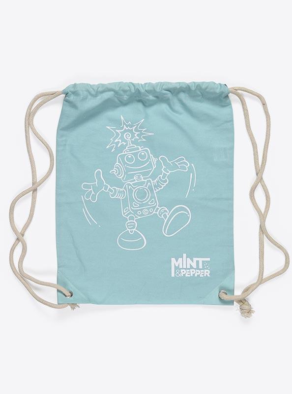 Gym Bag Baumwolle Bedruckt Mintpepper