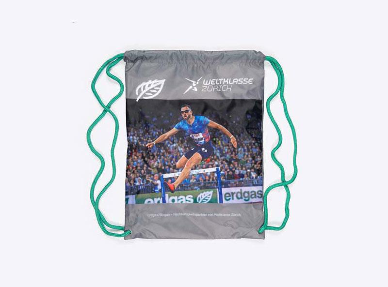 Gym Bag Kordelrucksack Mit Firmen Logo Bedrucken Rpet Recycling