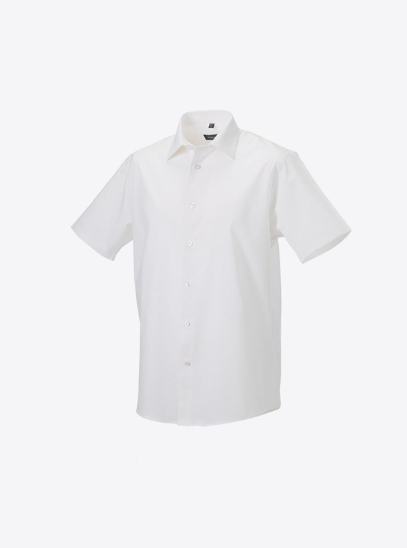 Hemd Drucken Herren Kurzarm Russell 947m Farbe Weiss