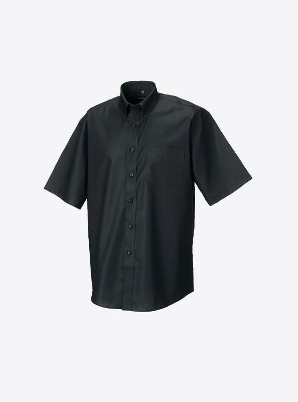 Hemd Herren Kurzarm Fuer Anlass Mit Logo Bedrucken Oder Besticken Russell 933m Farbe Black